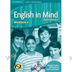 English in Mind for Spanish Speakers Level 4 Workbook with Audio CD by Herbert Puchta, 9788483237526.