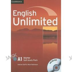English Unlimited Starter Self-study Pack (Workbook with DVD-ROM), English Unlimited Ser. by Adrian Doff, 9780521726344.