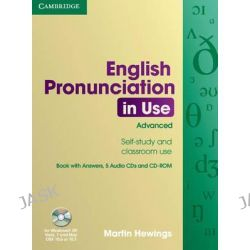 English Pronunciation in Use Advanced Book with Answers, 5 Audio CDs and CD-ROM, English Pronunciation in Use by Martin Hewings, 9780521693769.