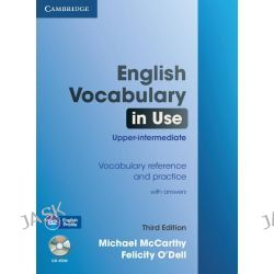 English Vocabulary in Use Upper-intermediate with Answers and CD-ROM by Michael J. McCarthy, 9781107600942.