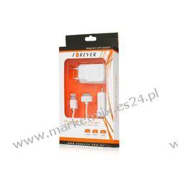 Ładowarka Forever USB 3w1 do iPhone biała
