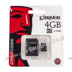 Karta pamięci Kingston microSDHC 4 GB z adapterem klasa 10