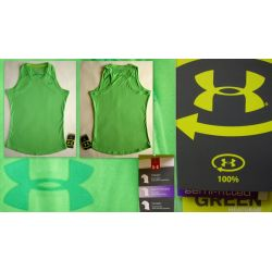 UNDER ARMOUR GREEN HEATGEAR  BLUZKA KOSZULKA USA