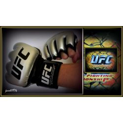UFC  REKAWICE TRENINGOWE MESKIE XL BLACK/SILVER US