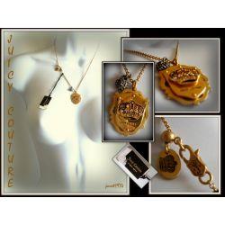 JUICY COUTURE WISIOREK DAMSKI STALOWY ANTIQUE GOLD