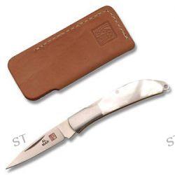 Al Mar Osprey Pearl Folder w Leather Pouch 1001P New