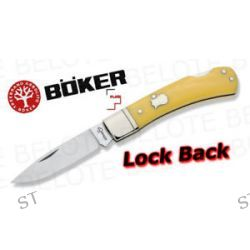 Boker Plus Lock Back Folder Yellow Plain Edge 01BO250Y