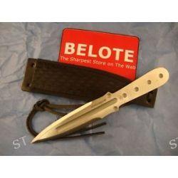 Boker Magnum Bailey Mini Ziel Throwing Knife w Leather Sheath 02MB165