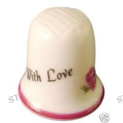 Heirloom Editions with Love Porcelain Thimble He Love