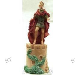 King Standing on A Castle Tower Thimble in Color Kofc