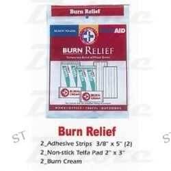 First Aid Kit Burn Relief Pouch Telfa Pads Burn Cream
