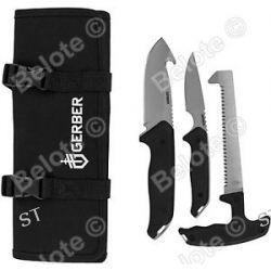Gerber Moment Field Dress Kit III Gut Hook Caping Knife Saw w Roll 31 002683