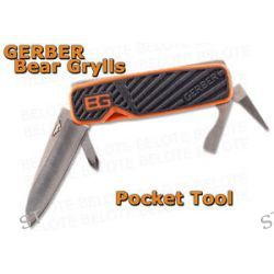 Gerber Bear Grylls Survival 5 in 1 Pocket Tool Knife Screwdriver 31 001050 New
