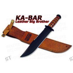 Ka Bar Kabar Knives Leather Handle Big Brother Bowie 2217 New
