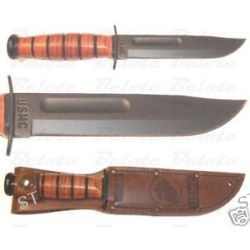 Ka Bar Kabar Knives Short USMC Ka Bar Straight Edge 1250 New
