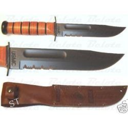 Ka Bar Knives Full Size USMC Kabar Serrated Edge 1218