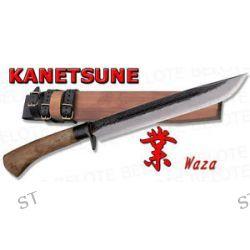 "Kanetsune Seki 10 6"" Waza Damascus Field Knife w Wood Sheath KB 114 New"