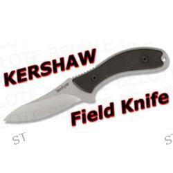 Kershaw Field Knife Black w Leather Sheath 1082 New