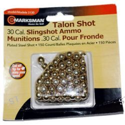 Marksman 150 Count 30 Caliber Talon Plated Steel Shot Slingshot Ammo 3130 New