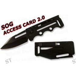 S O G SOG Knives Black Access Card 2 0 Plain SOGAC77