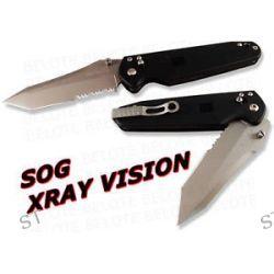 S O G SOG Knives x Ray Vision Folder Serrated XV71 New