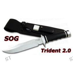 S O G SOG Trident 2 0 w Leather Sheath S2B L New