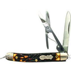 """Schrade Uncle Henry 2 75"""" Gambler Folding Pocket Knife 7CR17MOV Steel 707UH New"""