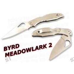 Spyderco Byrd Meadowlark 2 Stainless Plain Edge BY04P2