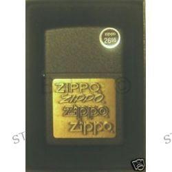 Zippo Brass Emblem Black Crackle Lighter Model 362 New