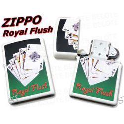 Zippo Royal Flush White Matte Windproof Lighter 28038