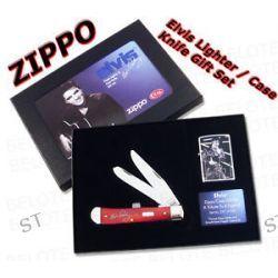 Zippo Elvis Lighter Case Knife Gift Set Limited 28119