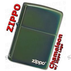 Zippo Chameleon Windproof Lighter w Zippo Logo 28129ZL