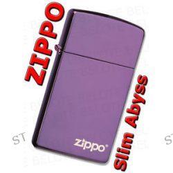 Zippo Slim Abyss w Zippo Logo Windproof Lighter Made in USA 28124ZL New