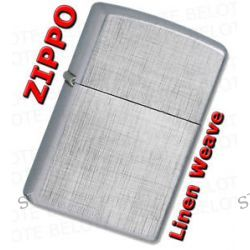 Zippo Linen Weave Brushed Windproof Lighter 28181 Lifetime GUARANTEE New L K