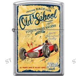 Zippo Old School Vintage Fourth Gear Race Club Street Chrome Windproof Lighter