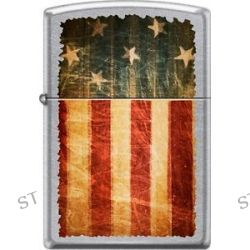 Zippo Battle Worn American Flag Patriotic Weathered Street Chrome Lighter New