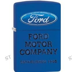 Zippo 2015 Catalog Rugged Vintage Style Ford Royal Blue Matte Lighter 28838 New