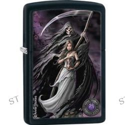 Zippo 2015 Anne Stokes Collection Death and Maiden Black Matte Lighter 28856 New