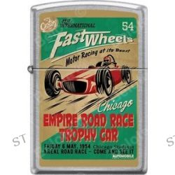 Zippo Fast Wheels Chicago Empire Road Race Trophy Car Street Chrome Lighter