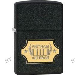 Zippo Vietnam Veteran Lazer Engraved to Show Brass Black Crackle Lighter 28875
