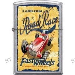 Zippo California Fast Wheels Road Race Poster Street Chrome Windproof Lighter