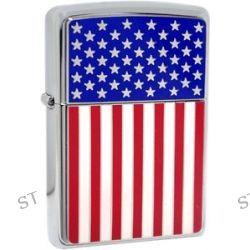 Zippo American Flag Emblem Symbol of USA Pride High Polish Chrome Lighter 28827
