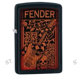 Zippo Black Matte Fender Windproof Lighter 28733 New