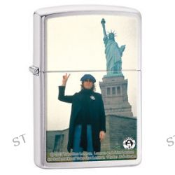 Zippo Brushed Chrome John Lennon Windproof Lighter 28730 New