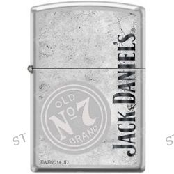 Zippo Jack Daniels Old No 7 Satin Chrome Windproof Lighter New