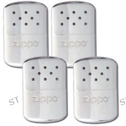 Zippo 4 Set Refillable Deluxe Chrome Hand Warmer w Pouch 40306 40182 Brand New