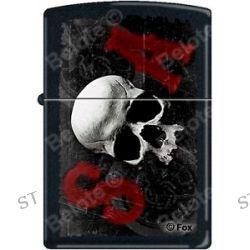 Zippo SOA Sons of Anarchy SAMCRO Skull Black Matte Windproof Lighter RARE