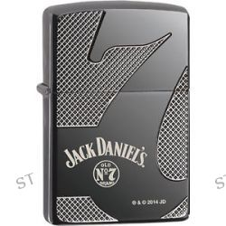 Zippo Choice Jack Daniel's Old No 7 Deep Laser Engrave Black Ice Lighter 28817