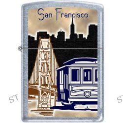 Zippo San Fransisco City Cable Car Scene Chrome Lighter RARE Hard to Find New