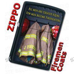 Zippo firemen Coats Black Matte Windproof Lighter 28316 New